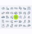 set line icons in flat design concept vector image vector image