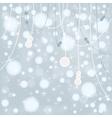 snow bokeh background vector image vector image