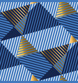striped gold and blue luxury seamless pattern vector image