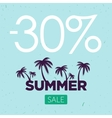 summer sale banner Palm silhouette and vector image vector image