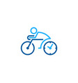 time bike logo icon design vector image vector image