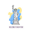 usa monument statue of liberty new york landmark vector image vector image