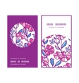 vibrant field flowers vertical round frame pattern vector image vector image
