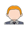 waiter man cartoon vector image vector image