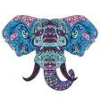 elephant head boho zentangle doodles vector image
