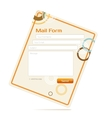 contact form vector image