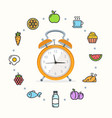 every day raw food vector image