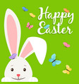 happy easter elements for banner vector image