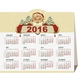2016 calendar Santa Claus holding banner vector image vector image