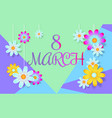 8 march banner vector image vector image