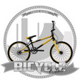 a bicycle of a certain type vector image