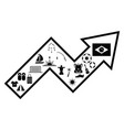 arrow brazil concept vector image