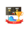 award and scoreboard competition objects vector image vector image