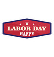 badge labor day logo icon flat style vector image vector image