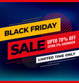 black friday mega sale background design template vector image vector image