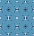 blue geometrical seamless pattern vector image vector image