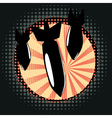 Cartoon Air Bomb2 vector image vector image