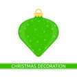 christmas tree decoration isolated vector image vector image