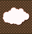 cloud frame seamless pattern with stars on brown vector image vector image
