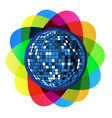 colorful disco ball vector image vector image