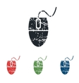 Computer mouse grunge icon set vector image vector image