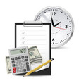 dollars note and pen classic office clock