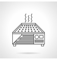 Dryer oven flat line icon vector image vector image
