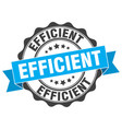 efficient stamp sign seal vector image vector image