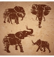 Elephants on a rock vector image