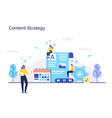 engaging content blogging media planning vector image vector image