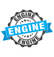 engine stamp sign seal vector image vector image