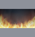fire flames on transparent background vector image