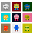 flat assembly icons of sale label vector image vector image
