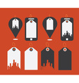 Flat design modern icons of uban shopping vector image vector image