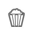 flat line popcorn icon vector image vector image