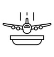 flight insurance line icon concept sign outline vector image vector image