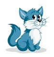 Funny cartoon kitten vector image vector image