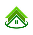 global green housing logo symbol vector image vector image