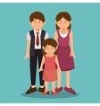 group family members characters vector image vector image