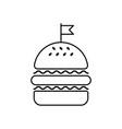 hamburger linear icon flag vector image vector image