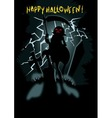 Happy Halloween greeting card background vector image