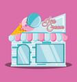 ice cream shop facade vector image