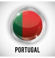 Isolated portugal button design vector image