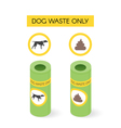 isometric dog waste cans vector image vector image