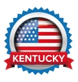 Kentucky and USA flag badge vector image vector image