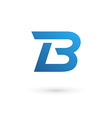 Letter B logo icon vector image vector image