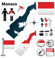 Map of Monaco vector image vector image