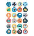 Maps and Navigation Flat Icons 2 vector image
