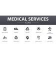 medical services simple concept icons set vector image