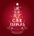 merry christmas tree typo vector image vector image